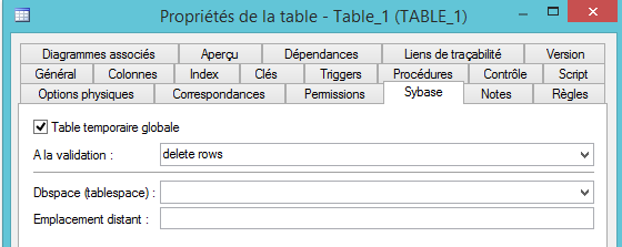 Table Temporaire
